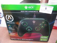 PowerA Black Xbox Wired Controller 7 Colour LED Edge Lighting Unchecked & Boxed
