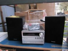 Parasonic SC-PM250 CD Stereo System Bluetooth tested working & Boxed