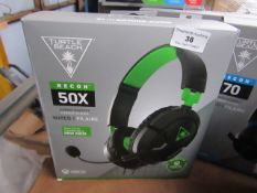 Turtle Beach Recon 50X headphones, unchecked and boxed.