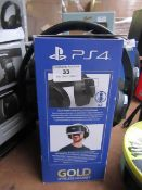 PS4 Gold wireless headset, unable to test and boxed.