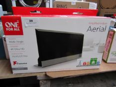 One For All Amplified Indoor Aerial compatable with 4K Ultra HD Unchecked & Boxed SV9385