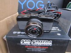 Hd Car camera, unchecked and boxed.