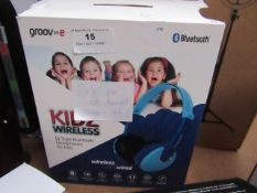 Groove Kids Wireless Dj Style Bluetooth Headphones tested working for sound only but has damaged