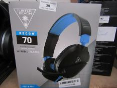 Turtle Beach Recon 70 headphones, unchecked and boxed.