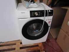 Hisense Dose Assist 9Kg washing machine, powers on but leaks water.