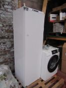 Sharp freestanding intergrated fridge, tested working, could do with a clean inside