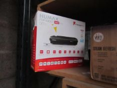 Humax 500GB Freeview player, unchecked and boxed.