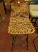 | 1X | COX & COX CHEVRON FLAT RATTAN DINING CHAIR | LOOKS IN GOOD CONDITION | RRP CIRCA £250 |