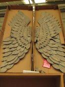 | 1X | COX & COX GREYWASHED GILT METAL ANGEL WINGS | BROKEN WINGS & BOXED | RRP £245 |