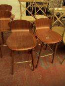 | 1X | MADE.COM SET OF 2 EDELWEISS BAR STOOL, OAK & BRASS | RRP CIRCA £100 |