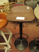 | 1X | COX & COX FAUX LEATHER COUNTER STOOL - BROWN | UNCHECKED & LEATHER SLIGHTLY DAMAGED | RRP £
