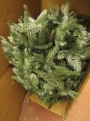 | 1X | BLUE MOUNTAIN SPRUCE CHRIDTMAS TREE - PRE - LIT | UNCHECKED & BOXED | RRP £- |
