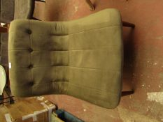 | 1X | MADE.COM HALBERT ACCENT ARMCHAIR, SYCAMORE GREEN VELVET | LOOKS IN VERY GOOD CONDITION (