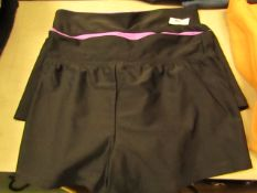 2 x Gerry Girls Black Shorts Aged 8 & 10 yrs no tag
