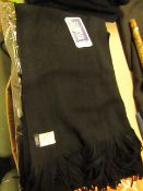 6 X Atlantics Dressy Nero Scarves Black new with tag
