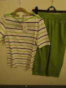 2 piece Joy Sportswear being T Shirt & Cropped Pants Set size 38 new with tag see image for design