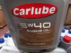2x Carlube - 5w/40 Fully Synthetic Engine Oil - 4.55 Litre Bottles - Unused & Sealed.
