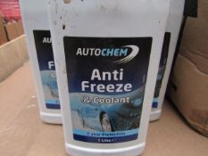 5x Autochem - Blue Anti-Freeze & Coolant - 2 Year Protection - 1 Litres Bottles - Unused & Sealed.