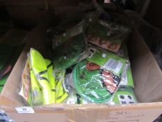 Box of approx 20 Mixed items which includes sun shades & Hi Viz vests - Assorted Sizes.