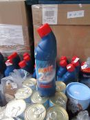 5x 750ml bottles of Power 24 bleach, some labels may be discoloured from the bleach leaking in the
