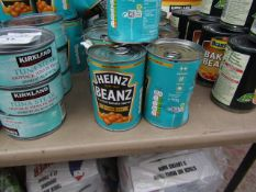 12x 415g tins of Heinz Baked beans, BB 05-2022.