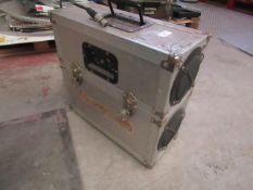 Small Portable Silver Box that looks like it is a homemade speaker and amp for a possibly a