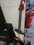 Stagg Guitar, looks like it needs some repairs as it has tape all over it.please read lot 0