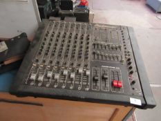 Studio Master Power House 8-2 250w + 250w powered Mixer, powers on and lights up but unable to check