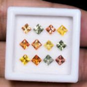 IGL&I Certified - Natural Sri Lanka Sapphires - VVS/VS Clarity - 2.68 Carats - 12 Pieces - Average