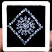 IGL&I Certified - Natural Tanzanite - 8.80 carats - 75 Pieces - Average retail value £3,672.06