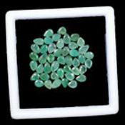 IGL&I Certified - Natural Brazilian Emeralds - 9.75 Carats - 44 Pieces - Average retail value £4,