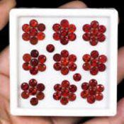 IGL&I Certified - Natural Hessonite Garnets - Huge 39.15 Carats - 65 Pieces - Average retail