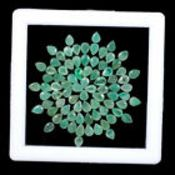 IGL&I Certified - Natural Brazilian Emeralds - 10.50 Carats - 81 Pieces - Average retail value £21,
