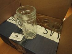 6x Isar small shot glasses, unused and boxed.