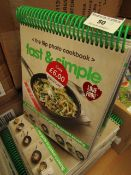 9x Fast and Simple flip photo cook book, new.