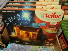 5x Teifoc building sets, new and boxed.