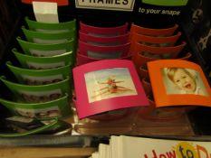 Approx 24x mini photo frames, new.