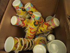Approx 50x Disney Princess cups, new.
