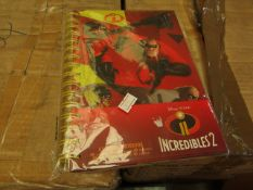 24x Incredibles A5 hardback spiral notebook, new and boxed.