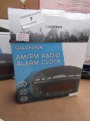 LLOYTON AM/FM Radio Alarm Clock Unchecked & Boxed