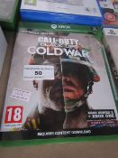 XBOX Call of Duty Black Ops Cold War, untested but appears to have a scratches on the disk.