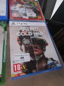 Playstation 5 Call of Duty Black Ops Cold War, untested but appears to have a few minor scratches on