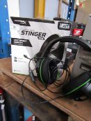 XBOX stinger headphones, tested working for sound only and boxed.