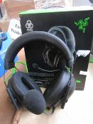 Razer gaming headphones, tested working for sound only and boxed.