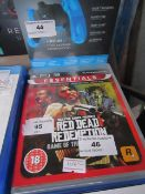 Playstation 3 Red Dead Redemption, untested but appears to have no scratches on the disk.