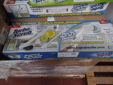 | 6X | TURBO SCRUB CORDLESS HAND HELD POWER SCRUBBER | UNCHECKED AND BOXED | SKU C5060191466233 |
