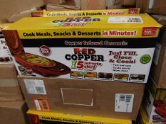 | 10X | RED COPPER CHEF ELECTRIC MEAL MAKERS | UNCHECKED AND BOXED | NO ONLINE RESALE | SKU