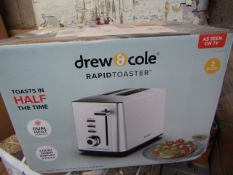 | 8X | DREW AND COLE 2 SLICE TOASTER | UNCHECKED AND BOXED | NO ONLINE RESALE | SKU - | RRP £49.99 |