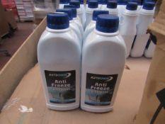 5x Autochem - Blue Anti-Freeze & Coolant - 2 Year Protection - 1 Litres Bottles - Unused & Sealed.