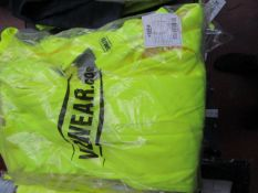 Vizwear - Polycotton Hi-Vis Yellow Coverall - Size Medium - New & Packaged.
